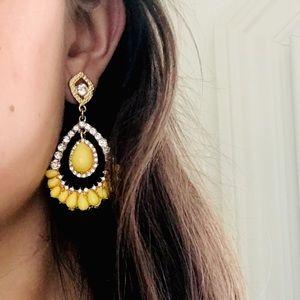 yellow/diamond statement earrings